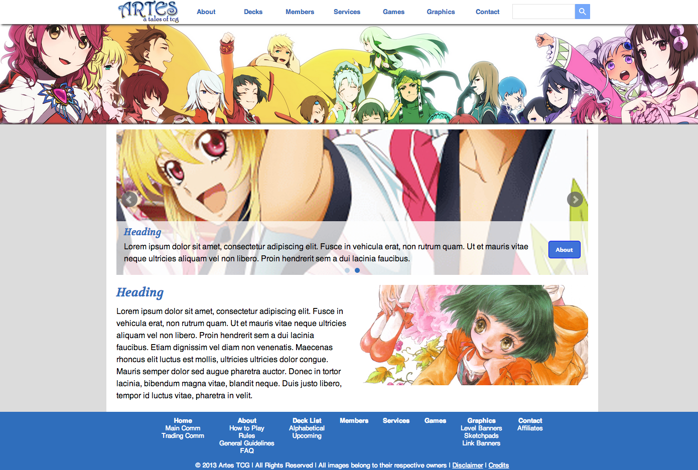 Artes TCG Site