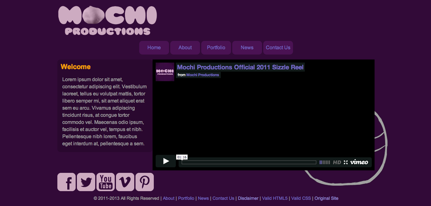 Mochi Productions Site