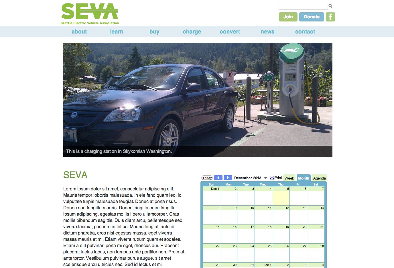 Seattle Electric Vehicle Association Site